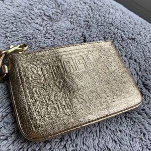 Coach x Poppy Wristlet in Metallic Gold